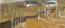 Birch Tree Farm | Bob Ferrucci Art | Contemporary American Folk Art