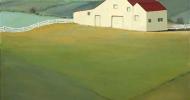 Blue Ridge Horse Farm   Bob Ferrucci Art   Contemporary American Folk Art