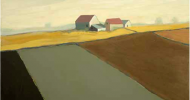 Golden Horizon | Bob Ferrucci Art | Contemporary American Folk Art