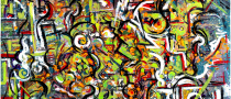 Mechanics | Bob Ferrucci Art | Abstract Action Art and Drip Art