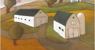 farm prints, folk art, american folk art, landscapes