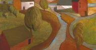 barn wall art, folk art, american folk art, landscapes