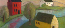 barn prints, folk art, american folk art, landscapes