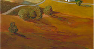 folk painting, folk art, american folk art, landscapes