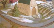 country painting, folk art, american folk art, landscapes