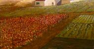 barn painting, folk art, american folk art, landscapes