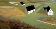 barn artwork, folk art, american folk art, landscapes