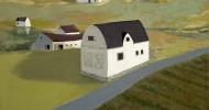 country homes art, folk art, american folk art, landscapes
