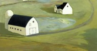 country artwork, folk art, american folk art, landscapes, barn art