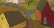 barn art, folk art, american folk art, landscapes