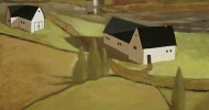 folk art, american folk art, landscapes, barn artwork