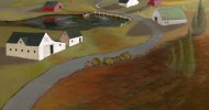 folk art, american folk art, landscapes, farm artwork
