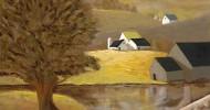 farm landscape, folk art, american folk art, landscapes, farm art