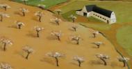 countryside landscape, folk art, american folk art, landscapes, barn artwork