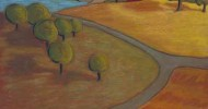 folk art, american folk art, landscapes, barn artwork