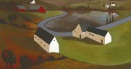 country, landscape, folk art, american folk art, landscapes, barn artwork