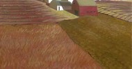 farm artwork, folk art, american folk art, landscapes, farm art