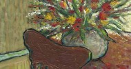 floral artwork, folk art, american folk art, landscapes