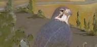 falcon art, bird artwork, folk art, american folk art, landscapes, barn art