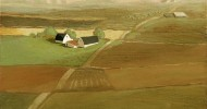 rural landscape, folk art, american folk art, landscapes, farm art